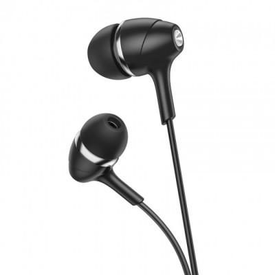 Вакуумные наушники с микрофоном Hoco M76 Maya universal earphones Black