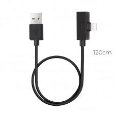 Переходник Hoco LS9 brilliant digital audio charging cable for lightning 1.2M Black
