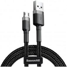 Кабель MicroUSB с оплеткой Baseus Cafule 0.5m Black
