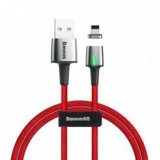 Магнитный кабель для iPhone Baseus Zinc Magnetic Cable for Lightning 2.4A 1m Red