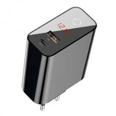 Сетевое зарядное устройство Baseus Speed PPS smart shutdown 45W Black