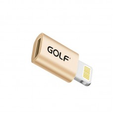 Переходник Golf GC-31 microUSB-Lightning Gold