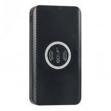 Внешний аккумулятор Power Bank Golf W4 QI БЗ 10000mAh Black