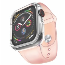 Pемешок Hoco WB09 (с бампером) для Apple Watch Series 1/2/3/4 (38/40mm) Pink