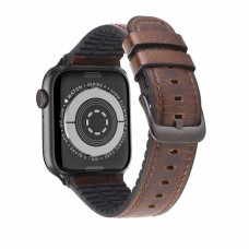 Kожаный ремешок Hoco WB18 Fenix leather strap для Apple Watch Series 1/2/3/4/5 (42/44mm) Dark Coffee