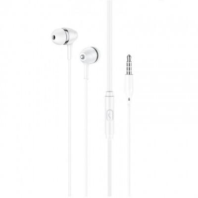 Вакуумные наушники с микрофоном Hoco M76 Maya universal earphones White
