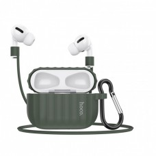 Комплект для Apple Airpods Pro (чехол, карабин, шнур) Hoco WB20 Fenix protective cover Green