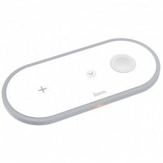 Беспроводная зарядка Hoco CW24 Handsome 3-in-1 White