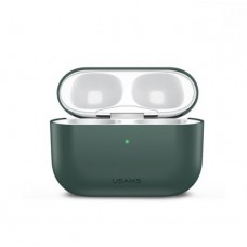 Чехол для Apple Airpods Pro Usams US-BH569 Ultra-thin Silicone Protective Cover Green