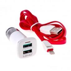 Автомобильное зарядное устройство Ldnio C301 + Micro USB Cable (2USB 3.4A) White