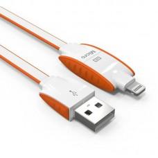 Кабель 2in1 Ldnio LC83 MicroUSB+Lightning 1M 2.1A Orange