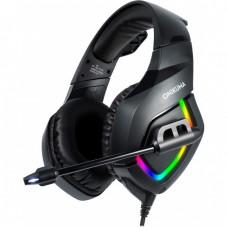 Наушники игровые Onikuma K1-B RGB с микрофоном Black