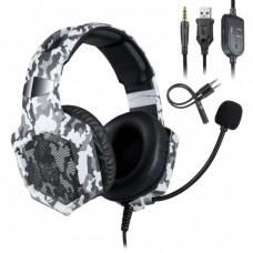 Наушники игровые Onikuma K8 с микрофоном Camo White