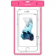 Водонепроницаемый чехол для смартфонов (до 55 дюймов) Usams US-YD001 Luminous Waterproof Pink
